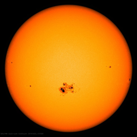 Manchas solares a simple vista